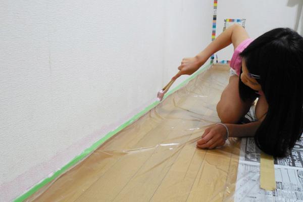 持ち方と塗料の量