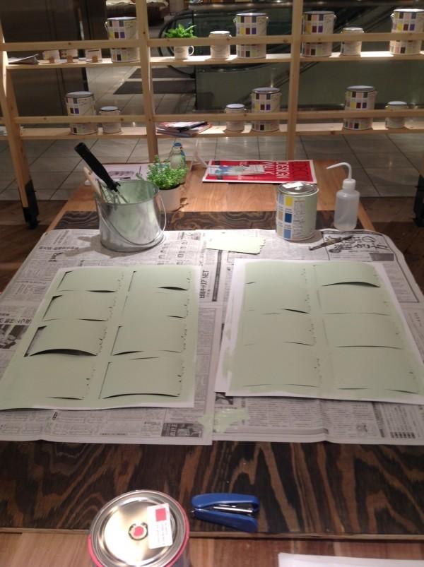 10月27日『小さなポストカードと大きな壁を塗ってペイントの基本ルールを学ぼう』ワークショップ