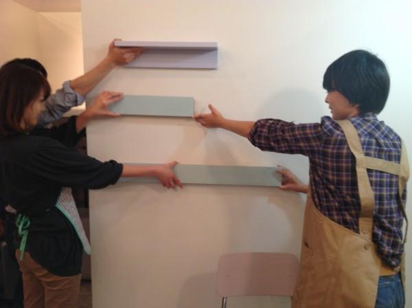 【年末模様替え企画1】MUJIの壁に取り付ける棚を塗ろう