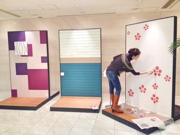 OZONE×ROOMBLOOM いろんな素材の壁を塗って、変化を楽しみませんか?