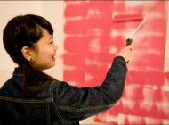小さなポストカードと大きな壁を塗ろう!