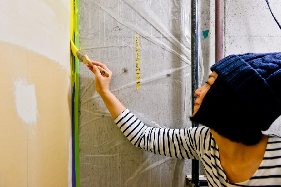 タイヨウノシタ壁塗り