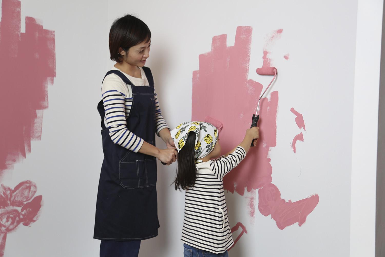 1608tdk_親子壁塗り